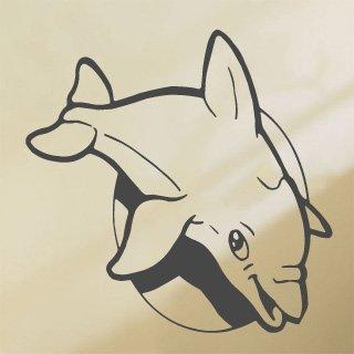 Samolepka Delfín 001 - 80x80 cm
