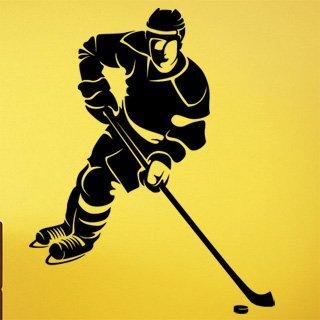 Nálepka na zeď Hokejista 0601 - 120x150 cm