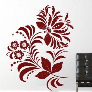 Samolepka na stěnu Ornamenty z rostlin 039 - 120x153 cm