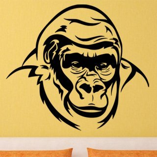 Nálepka na zeď Gorila 002 - 120x106 cm