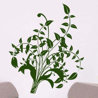 Samolepka na zeď Ornamenty z rostlin 014 - 80x96 cm