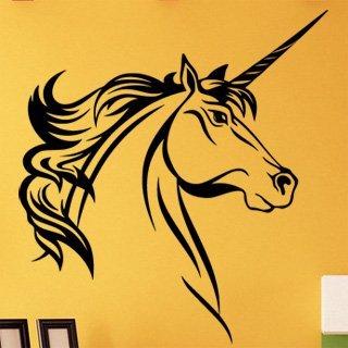 Samolepka na zeď Jednorožec 002 - 60x65 cm