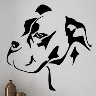Samolepka Mastif 001 - 80x82 cm