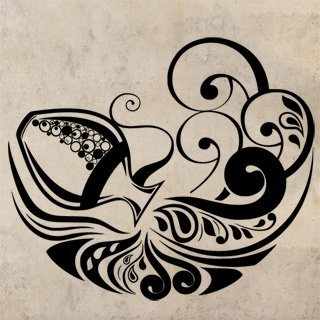 Samolepka Ornament 0311 - 120x103 cm
