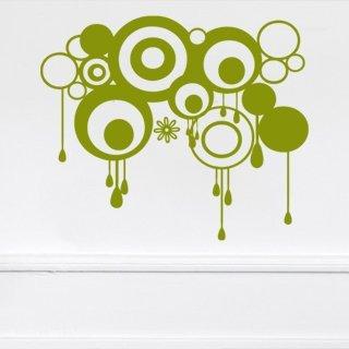 Samolepící dekorace Kruhy 007 - 143x120 cm