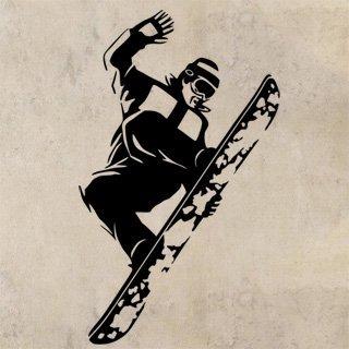 Nálepka na zeď Snowboardista 005 - 100x168 cm