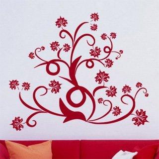 Samolepka na zeď Ornamenty z rostlin 015 - 96x80 cm