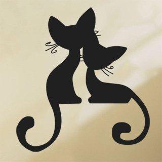 Samolepící dekorace Kočička 002 - 100x109 cm