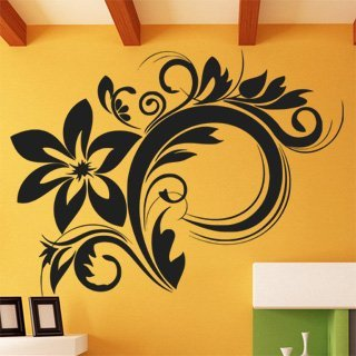 Samolepka na stěnu Ornamenty z rostlin 030 - 159x120 cm