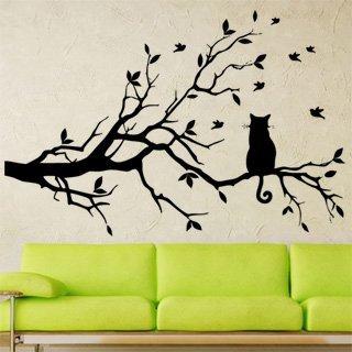 Samolepící dekorace Kočka 004 - 152x100 cm