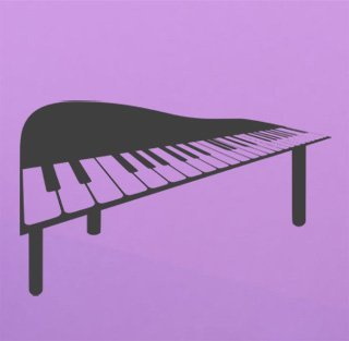 Samolepka na zeď Piano 011 - 98x60 cm