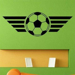 Samolepka na zeď Fotbalový míč 004 - 120x41 cm