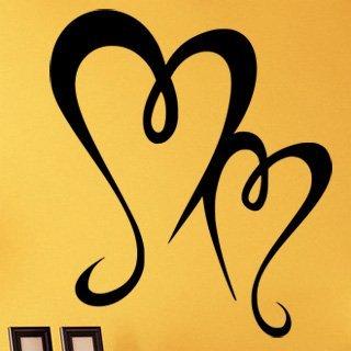 Samolepka na zeď Srdce 0262 - 60x83 cm