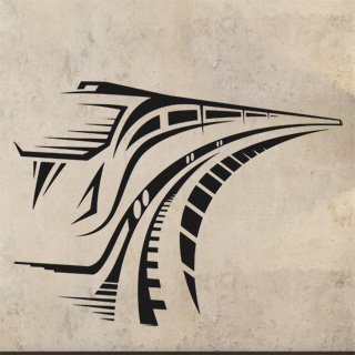 Samolepka na zeď Vlak 001 - 80x60 cm