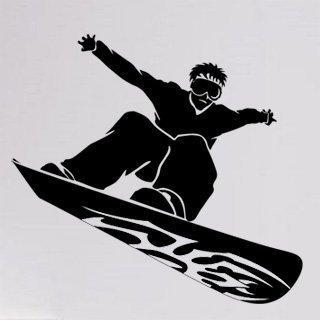 Samolepka na zeď Snowboardista 001 - 65x60 cm