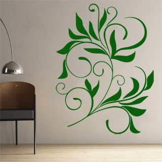 Samolepka na zeď Ornamenty z rostlin 008 - 60x81 cm