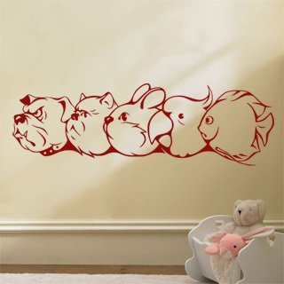 Samolepka na zeď Zvířátka 004 - 120x38 cm
