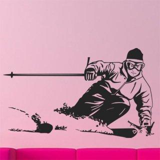 Samolepka na zeď Lyžař 002 - 100x60 cm