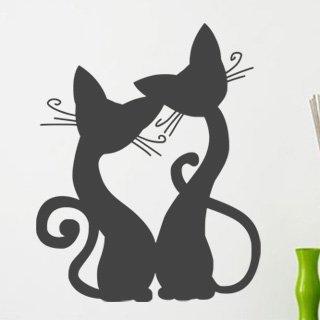 Samolepka na zeď Kočička 008 - 60x75 cm