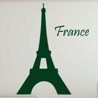 Samolepka na zeď Eifelova věž 005 - 60x76 cm