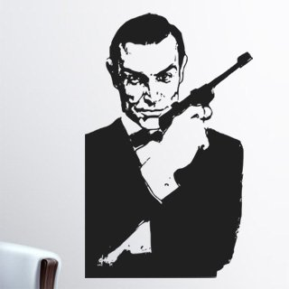 Samolepící dekorace James Bond 001 - 80x127 cm
