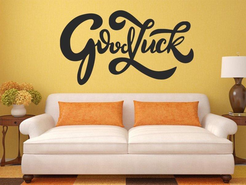 Samolepka na zeď Nápis Good luck 0655