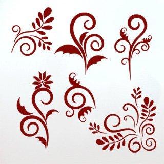 Samolepka Sada ornamentů 001 - 120x120 cm