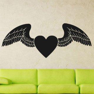 Samolepka Srdce s křídly 0268 - 159x60 cm