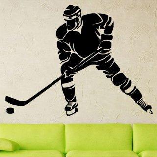 Samolepící dekorace Hokejista 0600 - 120x92 cm