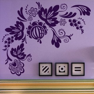 Samolepící dekorace Ornamenty z rostlin 017 - 144x120 cm