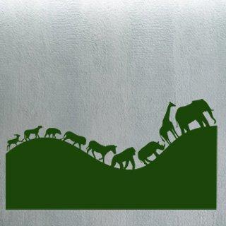Samolepka na zeď Africká zvířata 002 - 120x62 cm