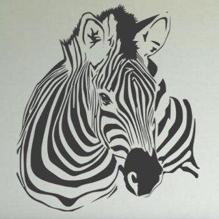 Samolepka na zeď Zebra 018 - 60x69 cm