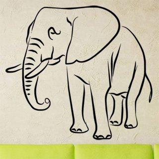 Samolepka Slon 1131 - 66x60cm