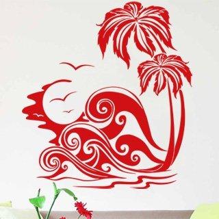 Samolepka Palmy 006 - 100x110 cm