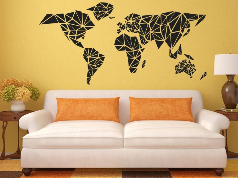 Samolepka na zeď Mapa světa 1231