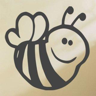 Samolepka na zeď Včela 001 - 60x60 cm