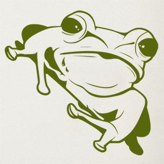 Nálepka na zeď Žába 007 - 120x113 cm