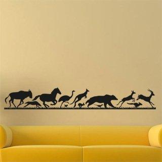 Samolepka na zeď Běžící zvířata 001 - 417x60 cm