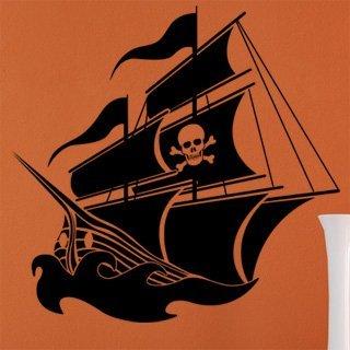 Samolepící dekorace Pirátská loď 001 - 120x116 cm