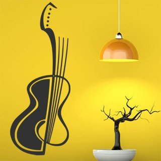 samolepky na stenu housle