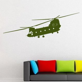 Samolepka na zeď Helikoptéra 001 - 120x39 cm