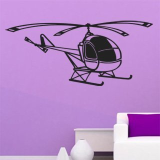 Samolepka na stěnu Helikoptéra 006 - 272x120 cm