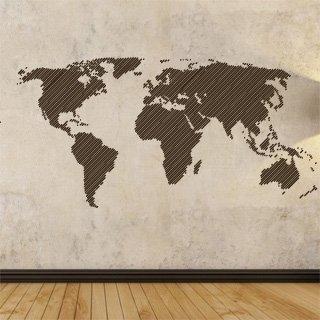Samolepka Mapa světa 001 - 169x80 cm