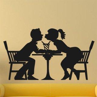 Samolepka na zeď Zamilovaný pár 0309 - 106x60 cm