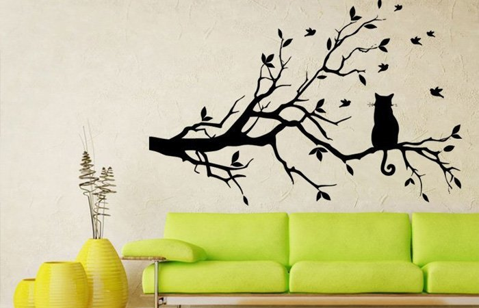 Ozdobte si zeď dekorací s kočkou