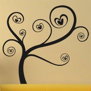 Samolepící dekorace Zamilovaný strom 0226 - 111x100 cm