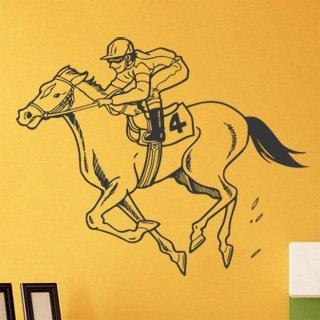 Samolepka na zeď Žokej 006 - 124x100 cm