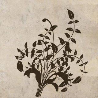 Samolepící dekorace Ornamenty z rostlin 014 - 100x120 cm
