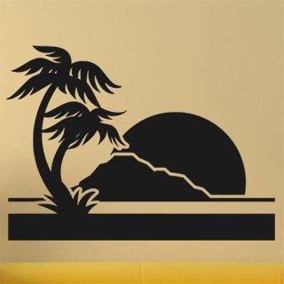 Samolepka na zeď Palmy 0303 - 83x60 cm