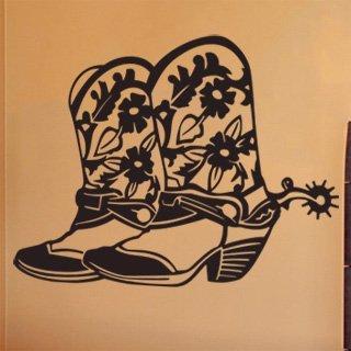 Nálepka na zeď Country boty 001 - 169x120 cm